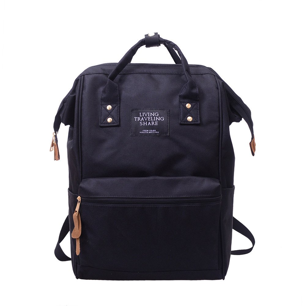 ▶HebeTop◄ Small Casual Lightweight Mini Travel Backpack Purse with Top Handles Waterproof for Women Black by ▶HebeTop◄➟HOT SALES