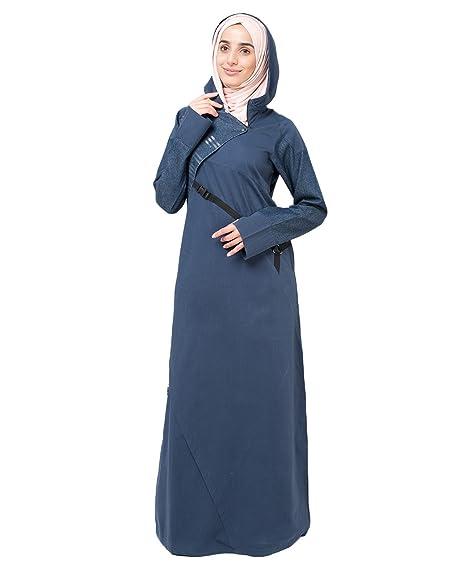 97bcbe31fe Silk Route Blue Denim Muslim Fashion Abaya Jilbab Burka  Amazon.in   Clothing   Accessories