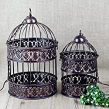 2piece/set Big&Small Metal Birdcage Iron Vintage Antique Decorative Wedding