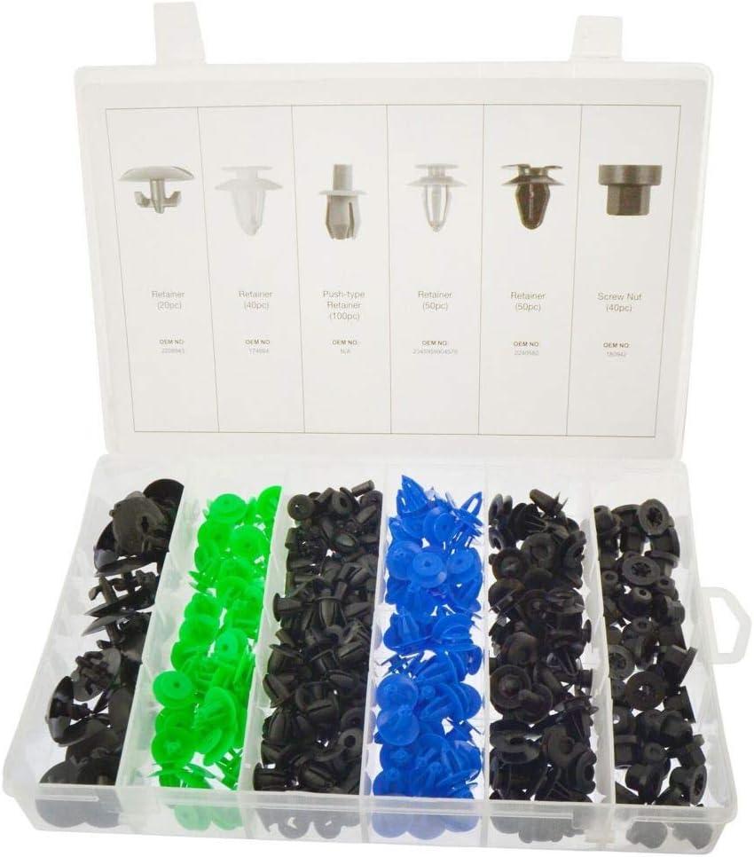 Trim Clip Assortment Set Retaining Retainer Grommet Clips Fixings 300pc