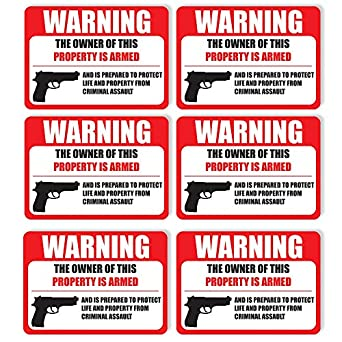 Private Property Warning Sticker Notice Self Adhesive Vinyl Funny