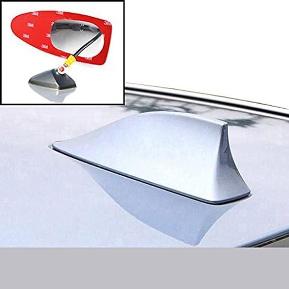 Antena de color blanco para coche de radio en blanco con aleta de tiburón para antena de señal externa de extensión