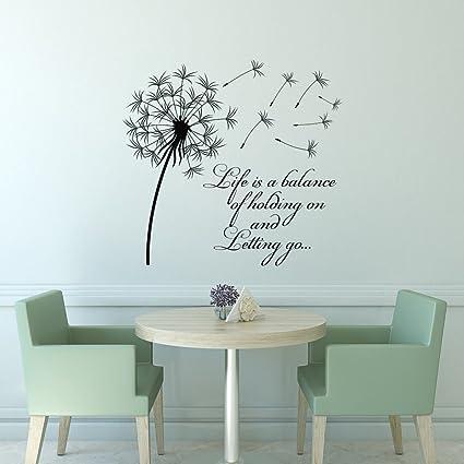 Amazon.com: Dandelion Wall Decal Life Is A Balance Holding On ...