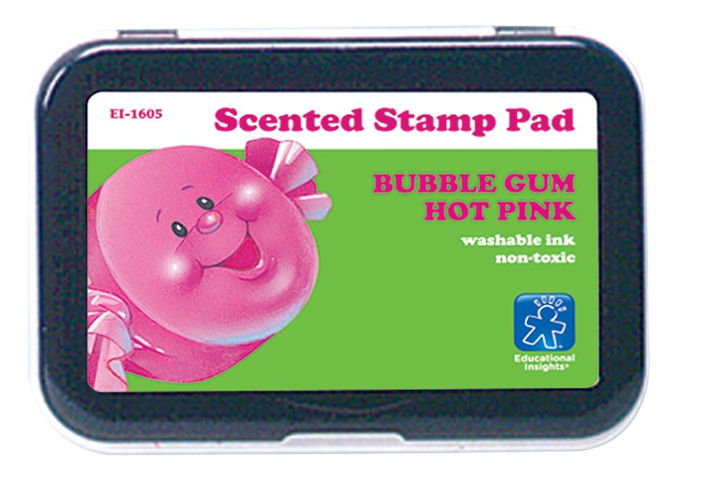 Insights 1605 Stamp Pad -ducation Hot Pink-Bubble Gum Scent Educational Insights