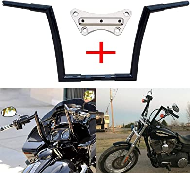 Dominator Industries 1 1//4 Inch Meathook Monkey Bagger Ape Hanger Handlebars FLHTC FLH and Street Glide Chrome for 1996-2019 Electra Glide 13 Inch Rise FLHX Electra Glide Classic