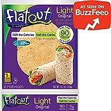 FLATOUT Flatbread Wraps - LIGHT ORIGINAL - 90 Calories - 2 Weight Watchers SmartPoints (2 Packs of 6 Flatbreads)