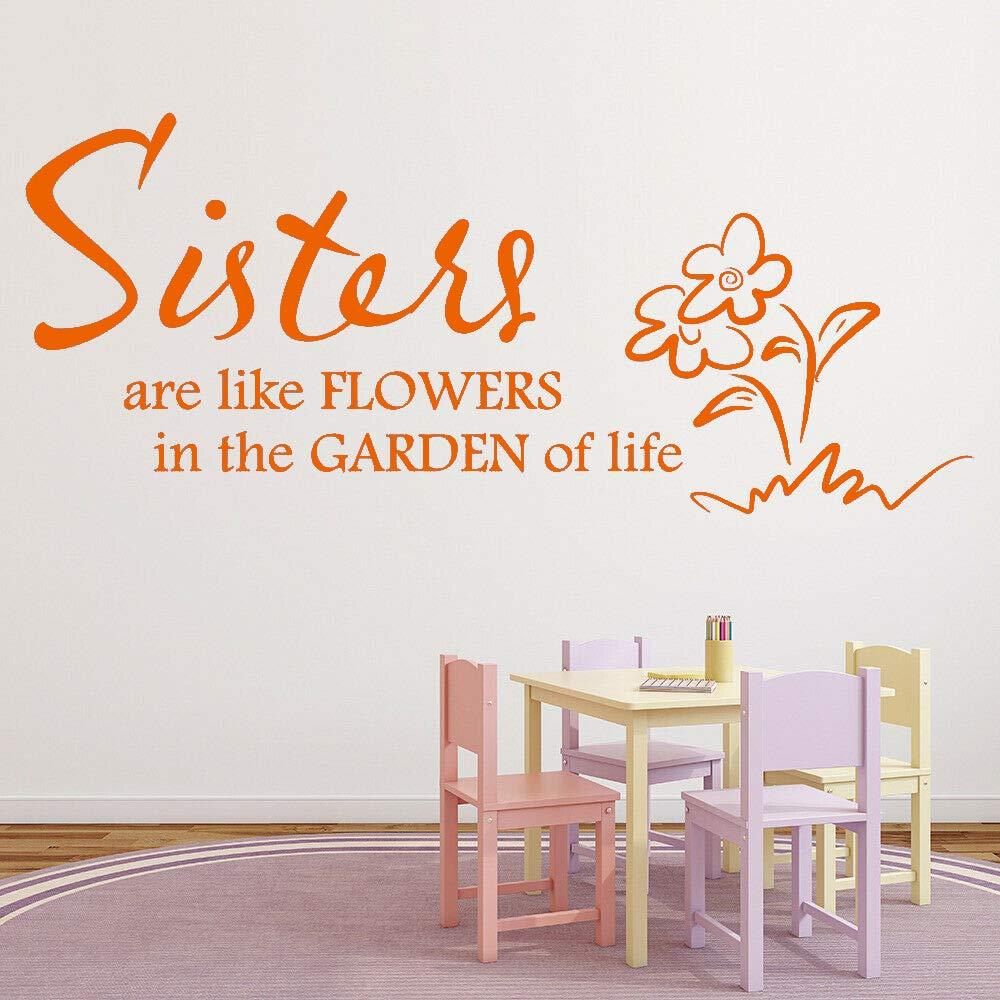 Cita familiar Tatuajes de pared Las hermanas son como flores ...