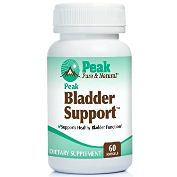 Peak Bladder Support for Overactive Bladder Health, Control Incontinence  Supplement, with