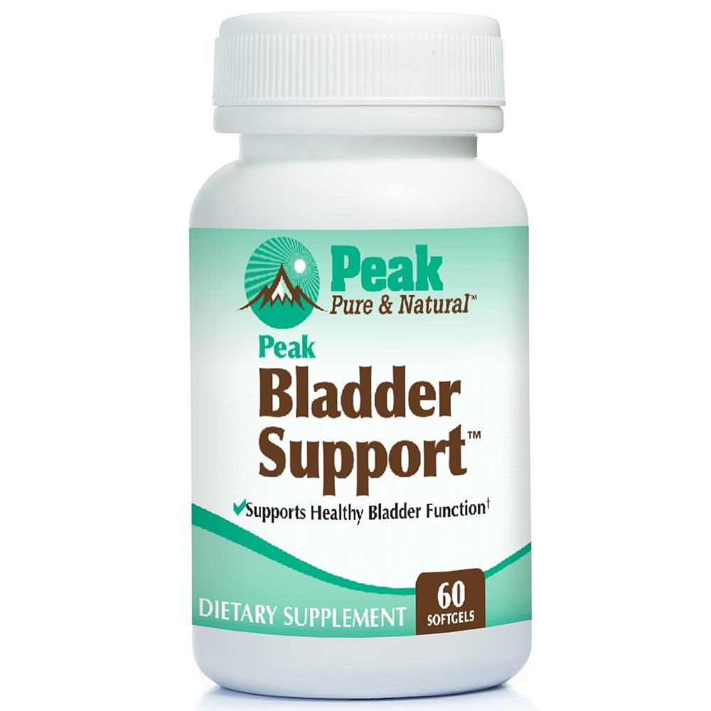 Peak Bladder Support for Overactive Bladder Health, Control Incontinence Supplement, with Go-Less, Helps Stop Urine Leaks, 60 softgels