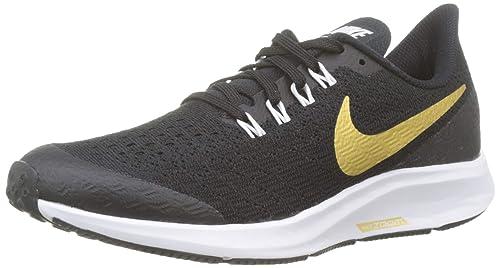 newest collection ea66e 5be3c Nike Air Zoom Pegasus 35 Sh GS, Scarpe da Fitness Donna, Multicolore (Black