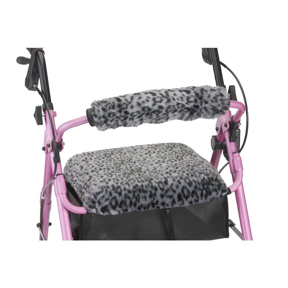 NOVA Rollator Walker Seat & Back Cover, Snow Leopard