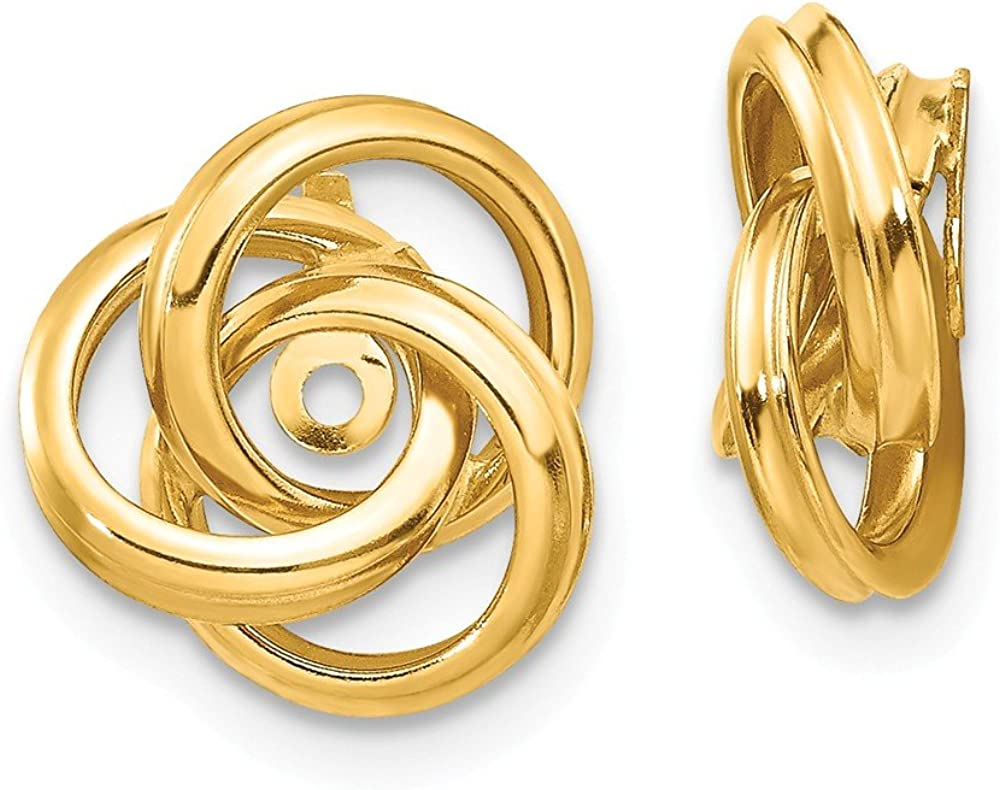 14k Gold Polished Love Knot...