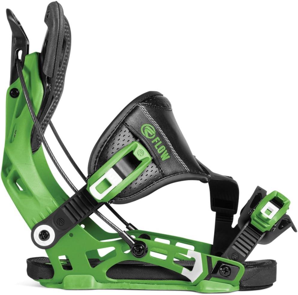 18-19 FLOW (フロー) ビンディング NX2 Hybrid Strap 緑 フロー バインディング フリースタイル スノーボード  L(25.5-29.5cm)