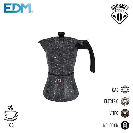 Cafetera 6 tazas aluminio para induccion edm: Amazon.es ...