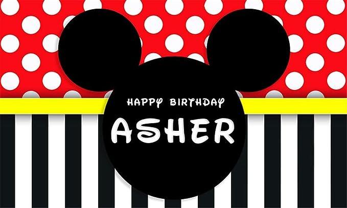 Fondo de cumpleaños Rojo y Negro Mickey Mouse Fondos para ...