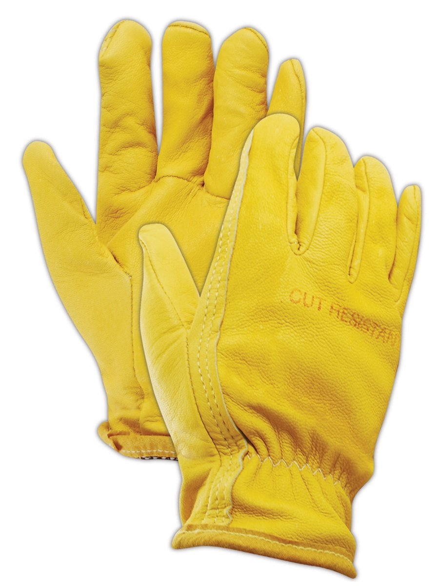 Magid Glove & Safety 1247DEXKS-XL Cut Master XKS 1247DEXKS XKS Lined Goatskin Grain Leather Drivers Glove - Cut Level 4, XL (Pack of 12)