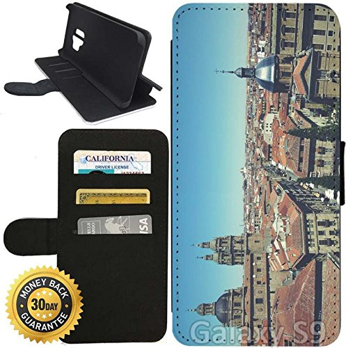 Flip Wallet Case for Galaxy S9 (Old City of Salamanca) with Adjustable Stand and 3 Card Holders | Shock Protection | Lightweight | Includes Stylus Pen by Innosub