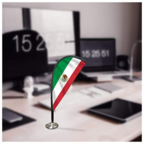 Amazon Com Mexico Desk Flag Teardrop Shape Mini Desk