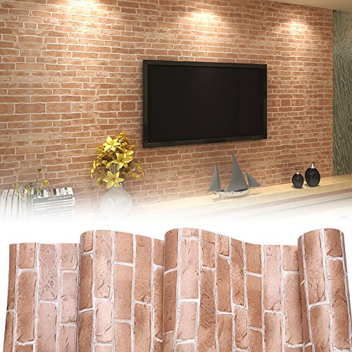 Block Wallpaper Border - 3D Modern Wallpaper, Modern Faux Brick Stone Textured Wallpaper,3D Brick Blocks Vintage Wallpaper for Home Design and Room Decoration (Type 2