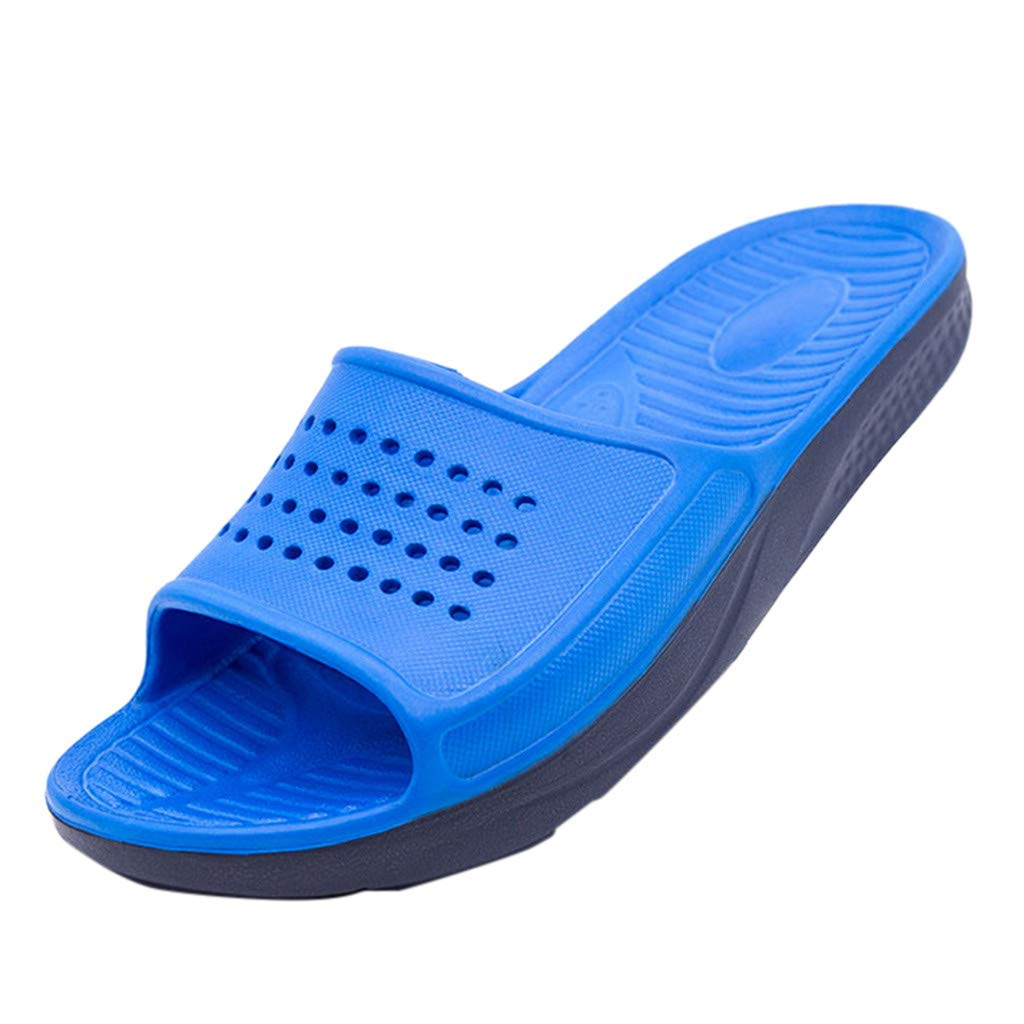 Haalife◕‿ Men's Slide Sandals Casual Non Slip Athletic Slippers with Arch Support for Shower Blue by HAALIFE Shoes
