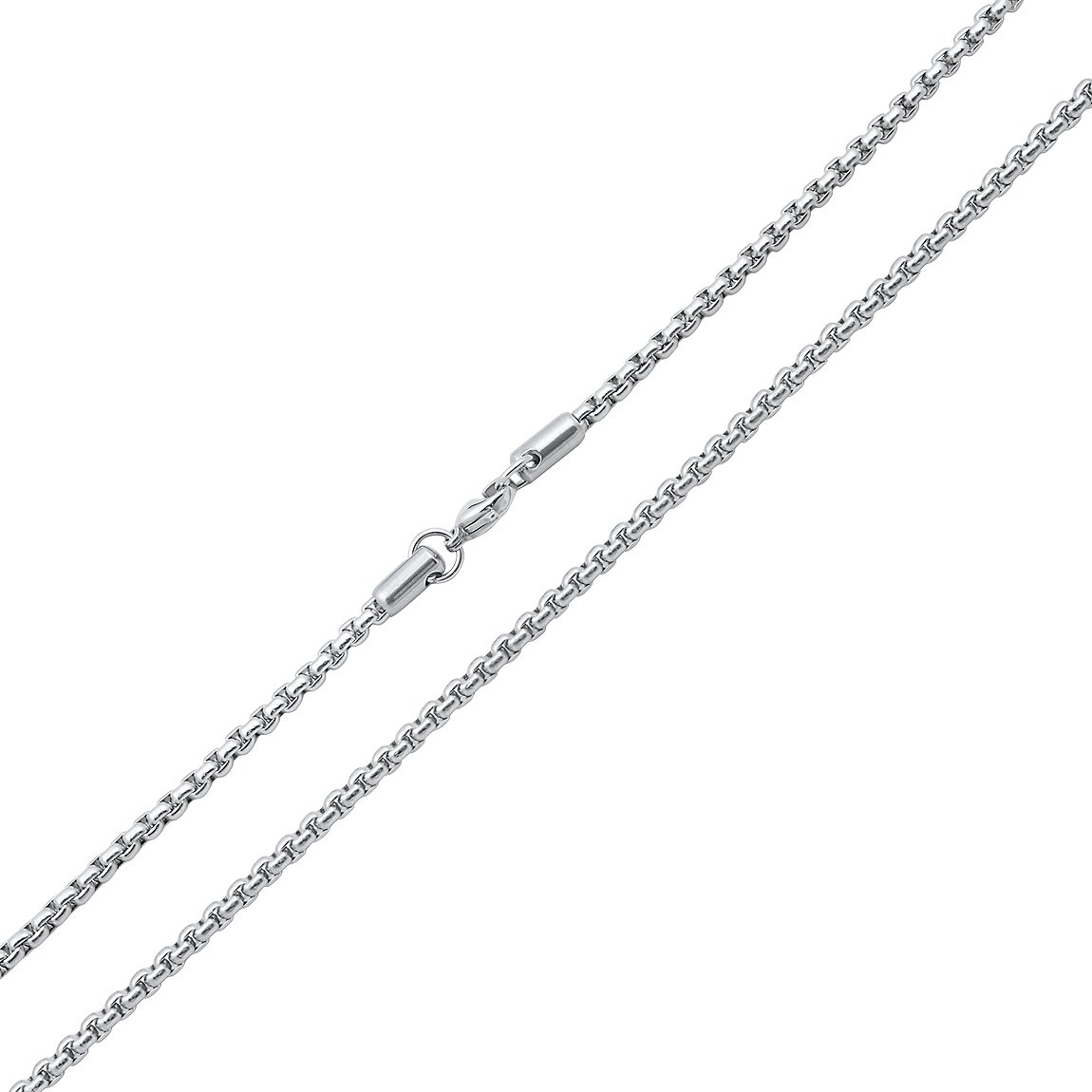 Stainless Steel Round Box Chain 2.5mm - 24''