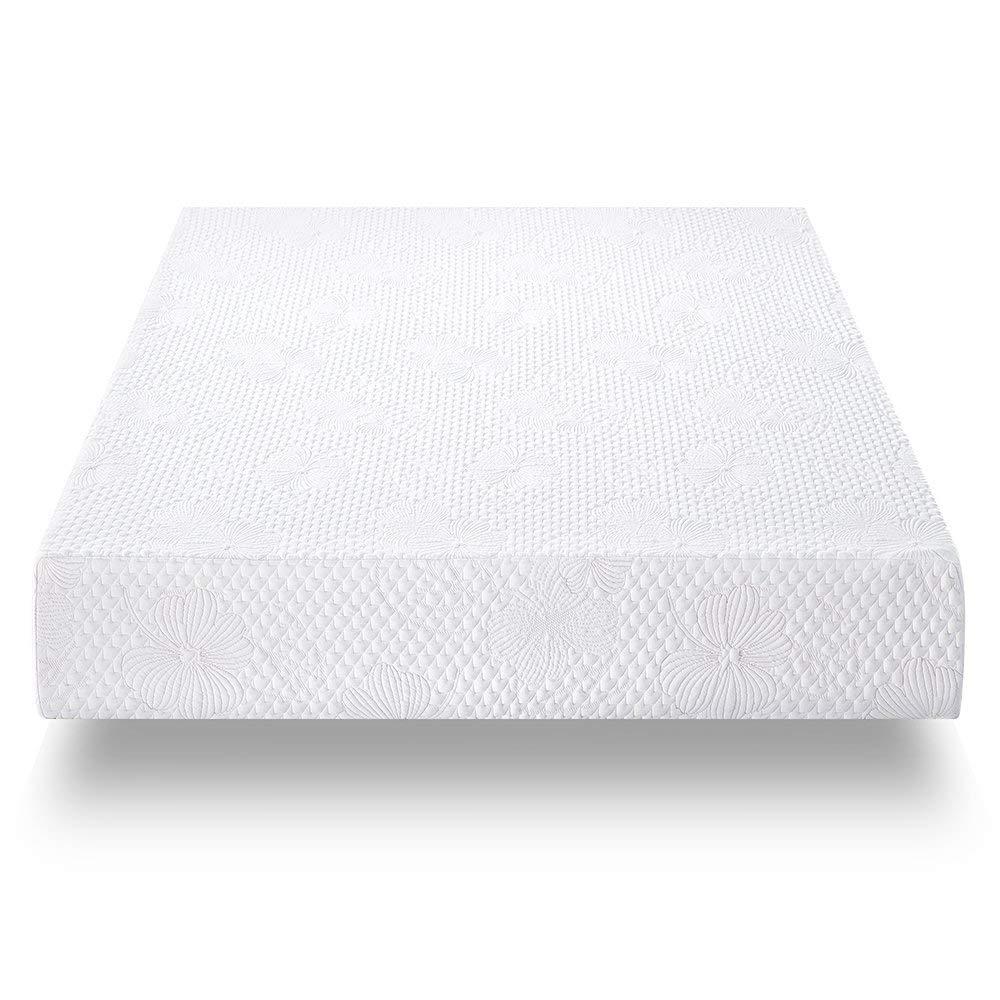 Full Olee Sleep F09FM01MOLVC 9  Cool I-Gel Multi Layered Memory Foam Mattress, Full, White
