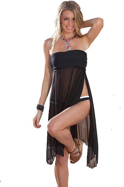 Amazon.com: Cielo azul trajes de baño de la mujer Negro ...