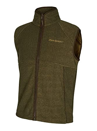 13be0d6886ccc Deerhunter Wingshooter Fleece Weste ind 371 Graphite Green: Amazon ...