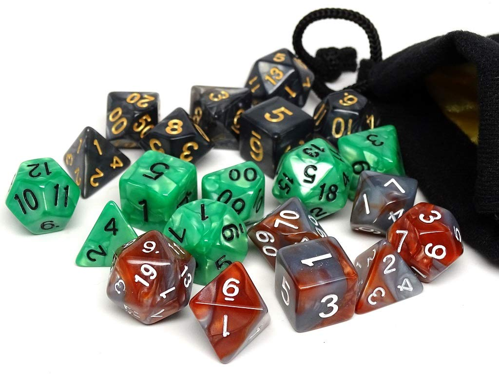 Free Small Dice Bag Included Dice of The Ranger 3 Pack Combo Pack 21 Total Dice