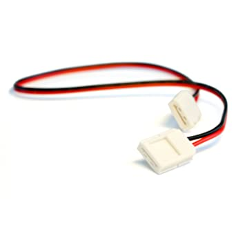 Amazon.com: Solderless LED Light Strip Connector Extension for 10mm ...