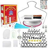Cake Decorating Supplies - (175 PCS SPECIAL CAKE DECORATING KIT) With 55 PCS Numbered Icing Tips, Cake Rotating…