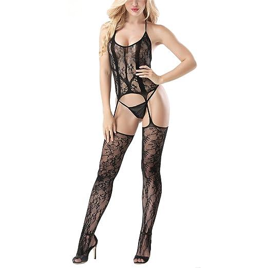 d127791dbe4 Sexy Bodystocking Fishnet Lingerie Crotchless Bodysuit Suspender Teddy  Nightwear