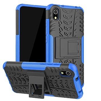Funda para Xiaomi Redmi 7A, Carcasa Antigolpes Robusta Case 360 Doble Capas Protector Resistente Golpes Caída con Soporte Cubierta Color Azul