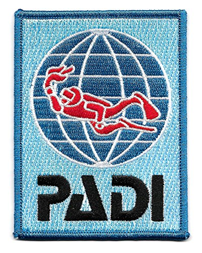 Scuba Patch - PADI Scuba Diver Patch (4 Inch) Embroidery Diving Badge Easy DIY Iron / Sew On Embroidered Applique by Karma Patch