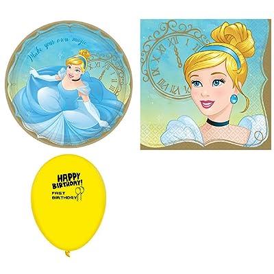Disney Princess Cinderella Plates & Napkins for 8: Toys & Games