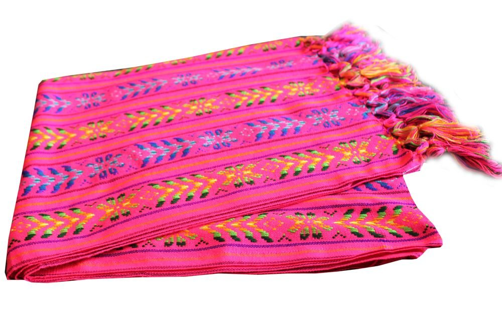 Del Mex Mexican Rebozo Shawl Blanket Doula (Regular (6 ft x 2.5 ft), Pink)