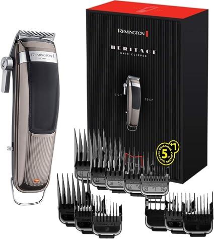 Remington Heritage HC 9100 Máquina de Cortar Pelo Profesional, Cortadora de Pelo Recargable y Inalámbrica, Batería de Litio, Gris: Amazon.es: Salud y cuidado personal