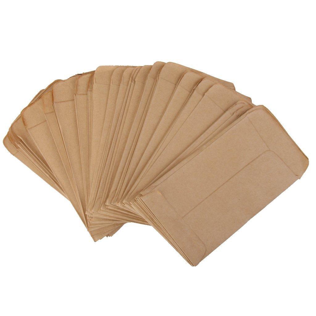 100 x sobres pequeños vintage de Namgiy para boda, cumpleaños, graduación, tarjetas de Navidad, manualidades con estilo europeo 165x102mm
