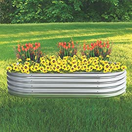 Kotulas Galvanized Steel Oval Raised Garden Bed - 6ft. x 3ft. x12in. 7 Enjoy the satisfaction of growing your own flowers, vegetables, herbs and more with this durable raised garden bed. The oval, 12in. deep planter box with e