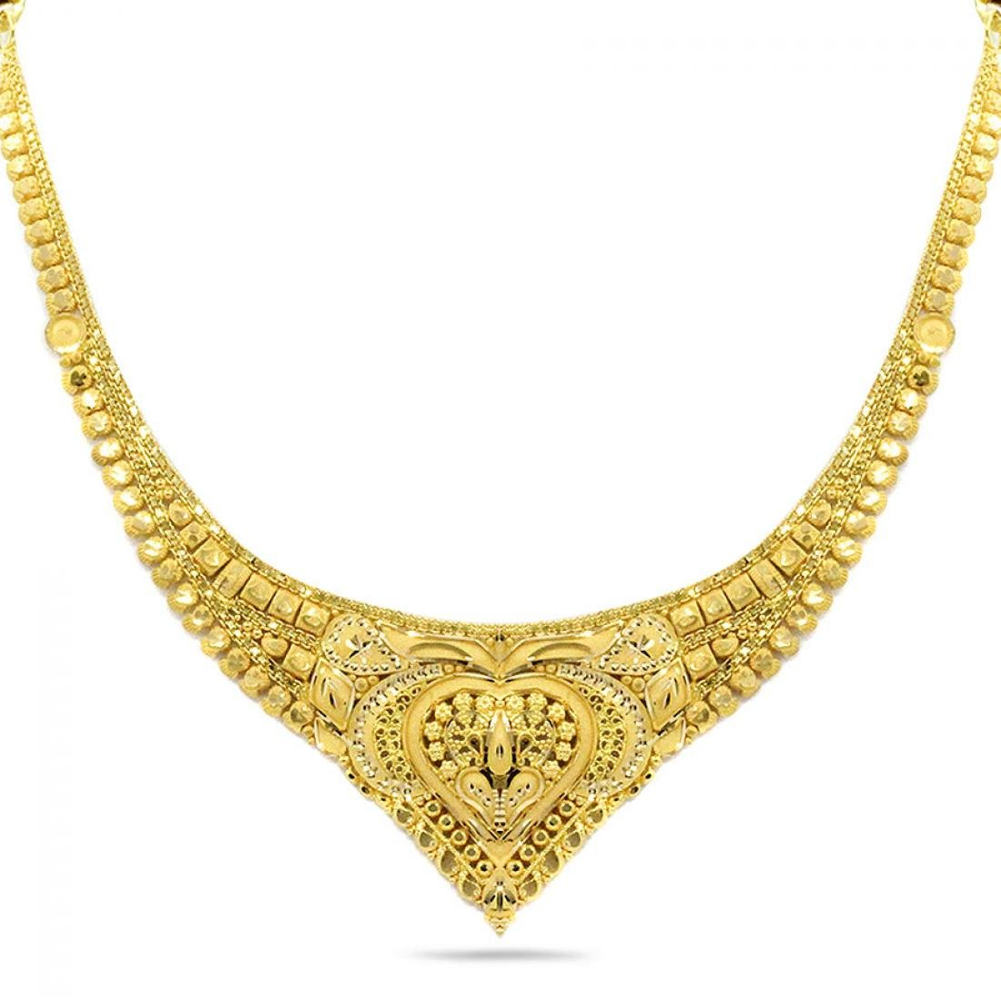Buy Candere By Kalyan Jewellers 22k 916 Yellow Gold Necklace For Women At Amazon In