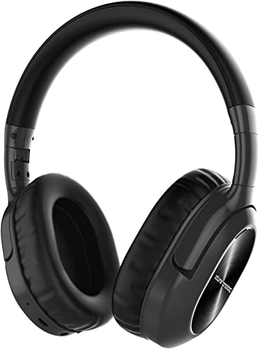 Atune Analog Bluetooth Headphones Wireless Active Noise Cancelling Headphones with Microphone Over-Ear Lightweight Foldable 20H Playtime Comfortable Protein Earpads Type-C Charge Port Telescopic Arms