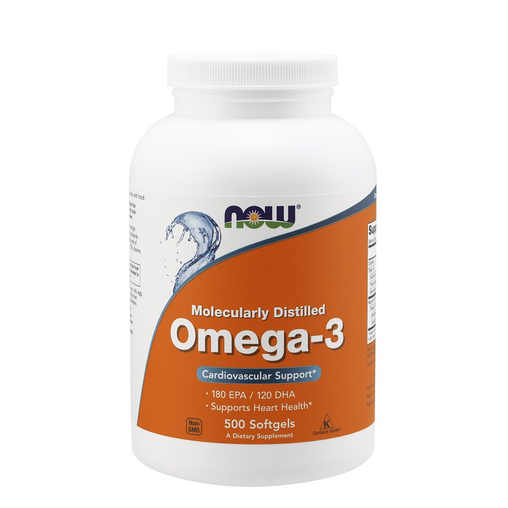 NOW Omega-3 1000 Milligram, 500 Softgels