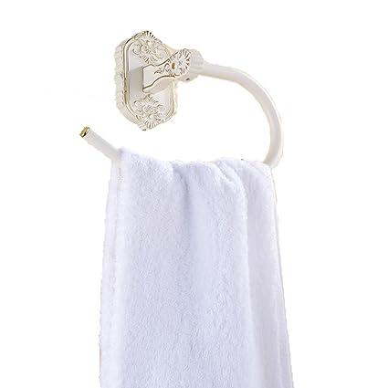 SDKIR-Asado Continental pintadas de blanco con oro blanco toalla toalla Toallero anillo de saneamiento