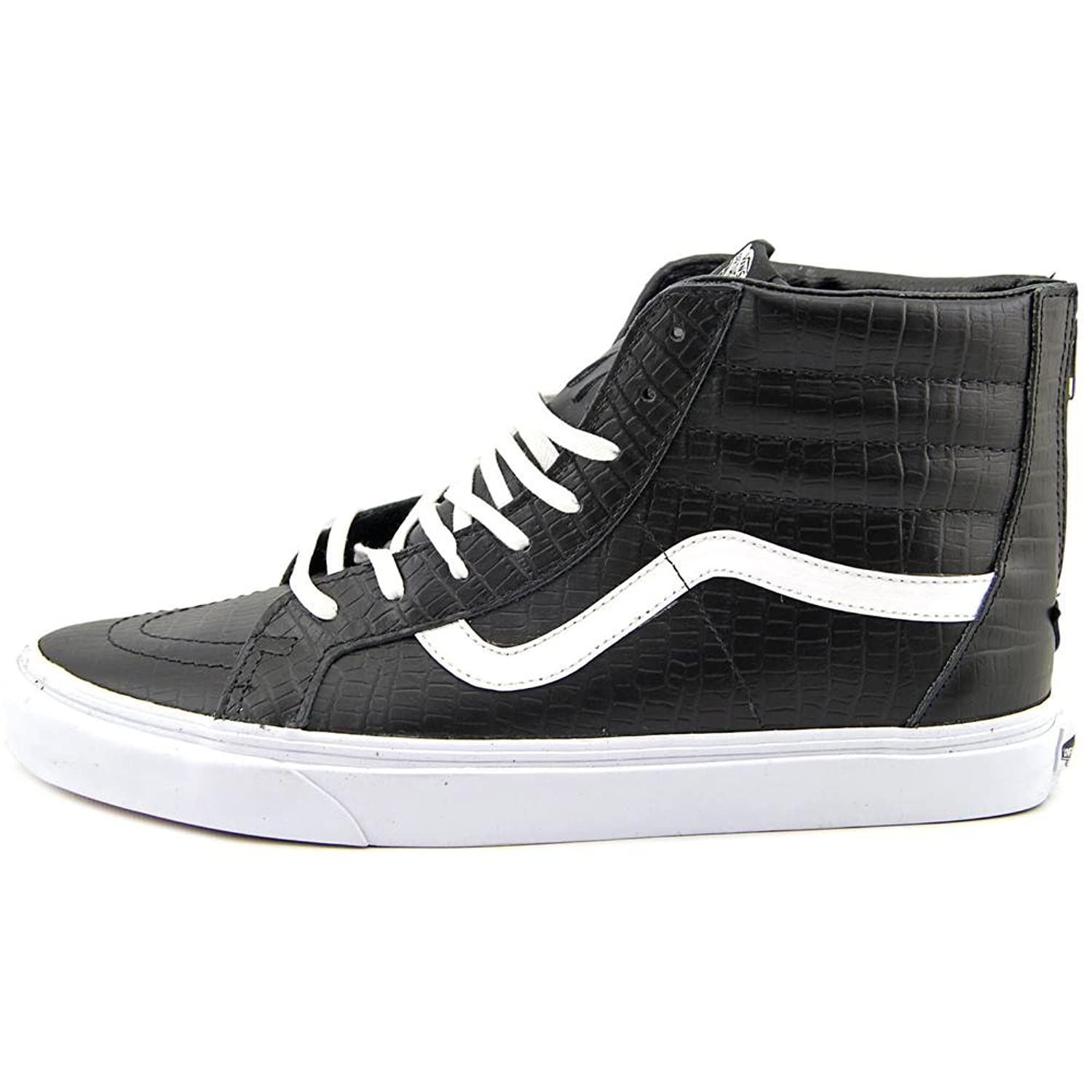 vans black leather sk8 hi