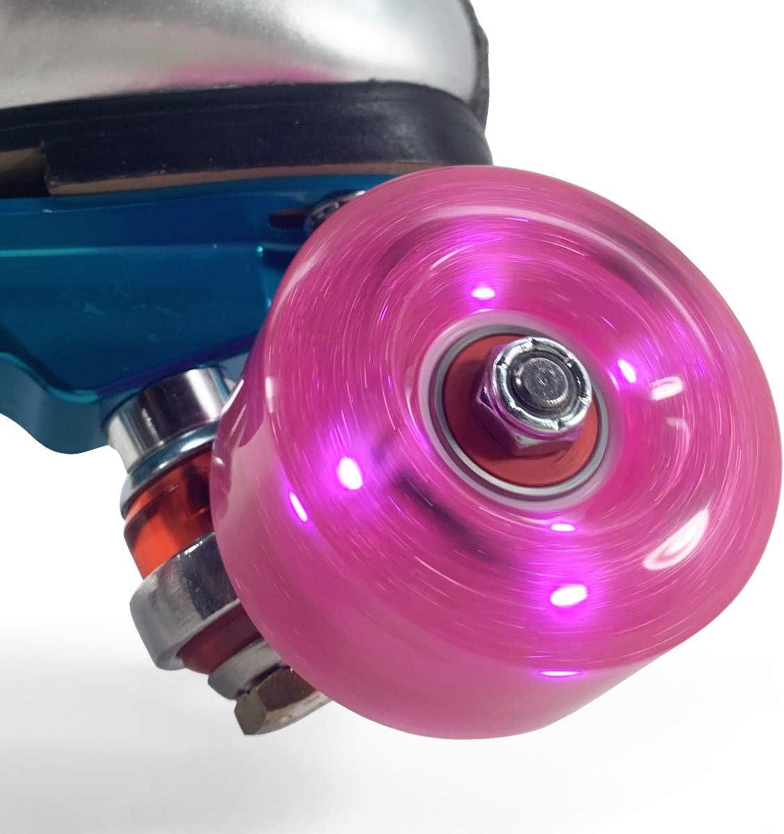 Now in 10 Colors Luminous Light Up LED Quad Roller Skate Wheels
