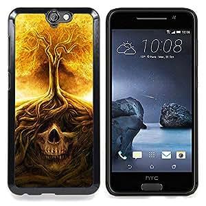GIFT CHOICE / Teléfono Estuche protector Duro Cáscara Funda Cubierta Caso / Hard Case for HTC One A9 // Fire Tree Skull Meaning Death Metal //