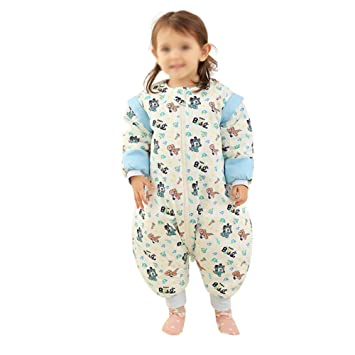 HAIMING-sleeping bag Mono De Bebe Saco De Dormir De La Pierna del Bebé Pijamas De Bebe-Saco De Dormir De La Pierna del Bebé Pijamas del Bebé Algodón: ...