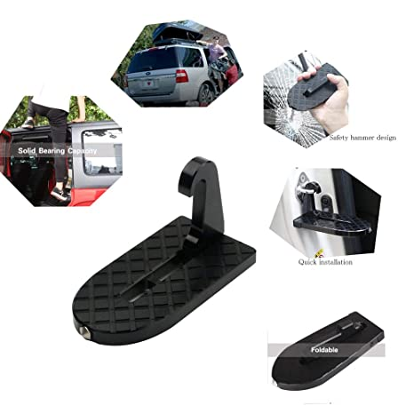 YUDA Tech Vehicle Doorstep Folding Pedal Off-road Car Roof Ladder Grab/Step  sc 1 st  Amazon.com & Amazon.com: YUDA Tech Vehicle Doorstep Folding Pedal Off-road Car ...