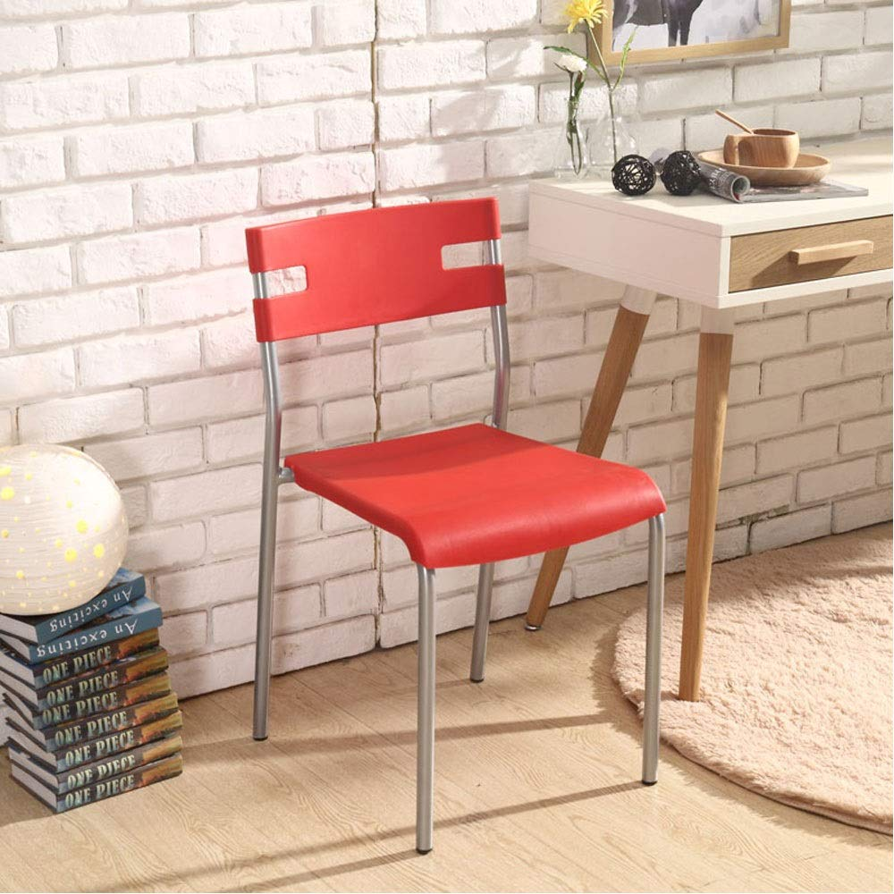 Red Plastic Chair Fashion Modern Minimalist Economy Home Computer Stool Office Chair Restaurant Adult Dining Chair (color   bluee)