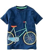 BHYDRY NiñIto Niños Bebé Chico Chica Ropa De La Historieta De Manga Corta  Camiseta De Las 40d9689b90a